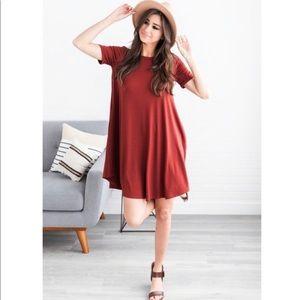 Dresses & Skirts - ANISA FIRE BRICK POCKET DRESS! SMALL! 💕 LAST 1!